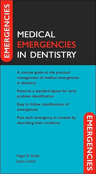 Portada del libro 9780198529316 Medical Emergencies in Dentistry