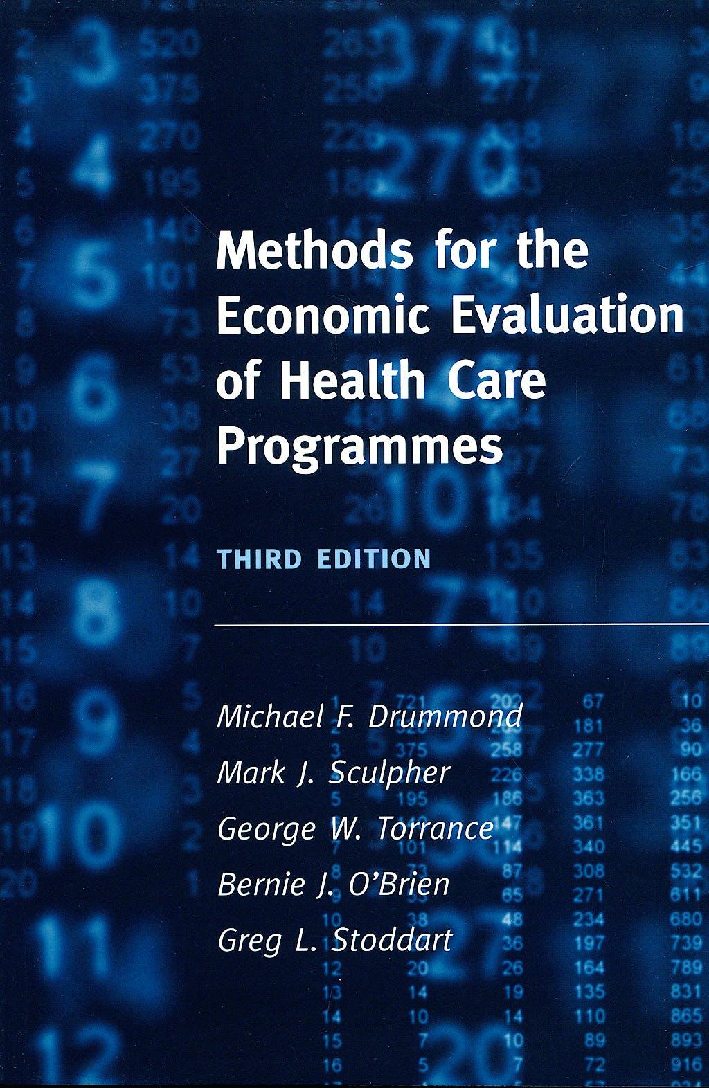 Portada del libro 9780198529453 Methods for the Economic Evaluation of Health Care Programmes