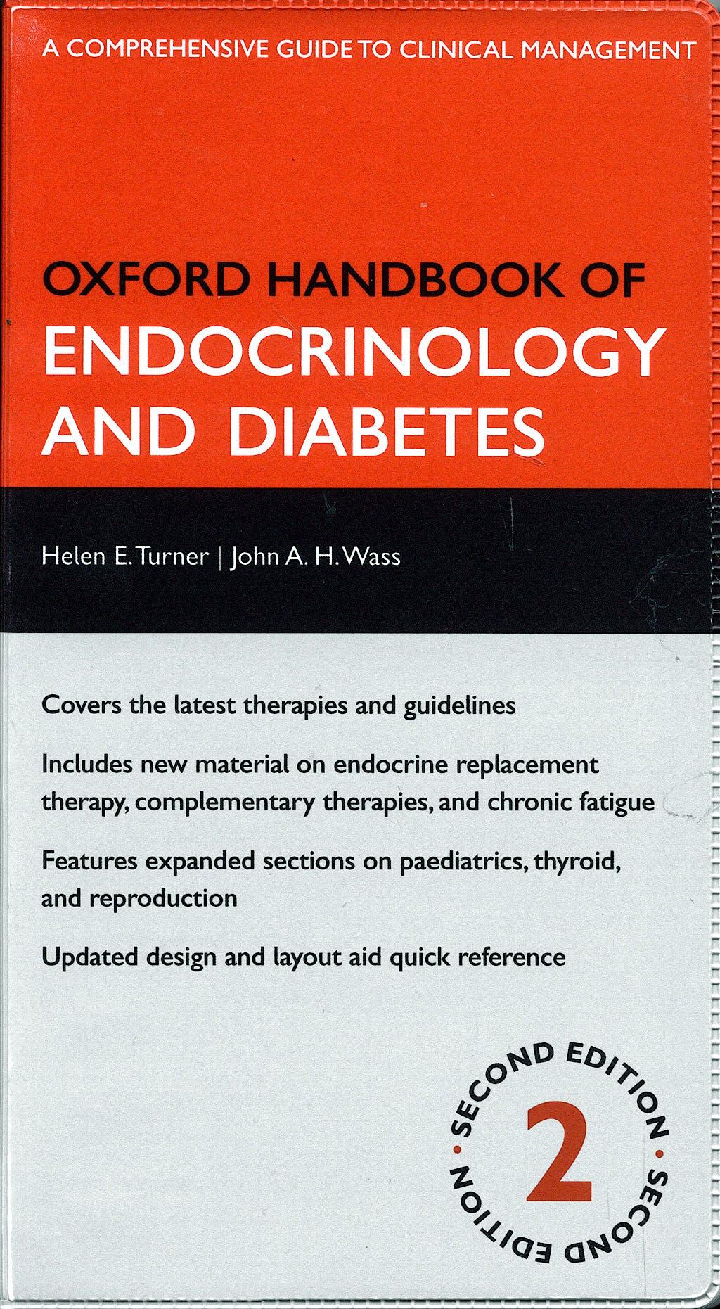 Portada del libro 9780198567394 Oxford Handbook of Endocrinology and Diabetes