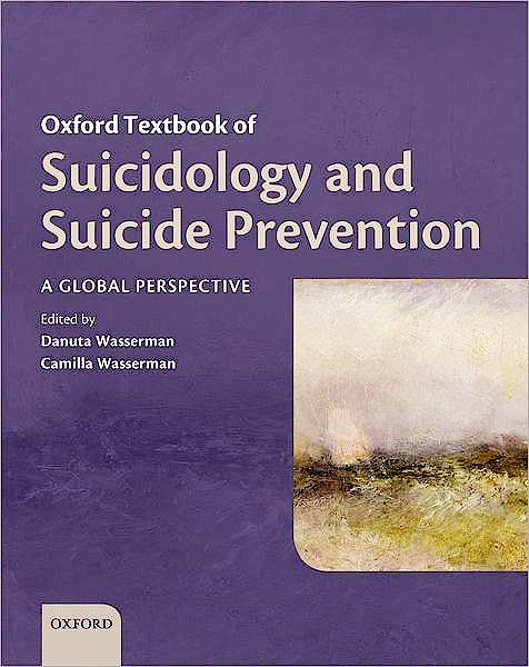 Portada del libro 9780198570059 Oxford Textbook of Suicidology and Suicide Prevention