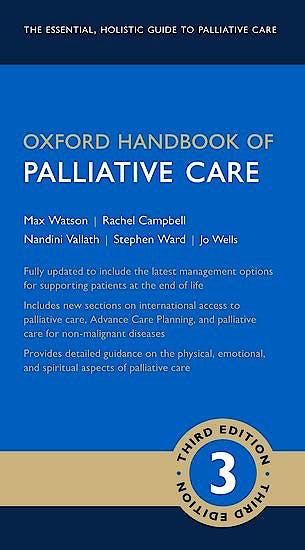 Portada del libro 9780198745655 Oxford Handbook of Palliative Care
