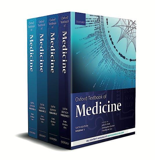 Portada del libro 9780198746690 Oxford Textbook of Medicine (4 Volume Set)