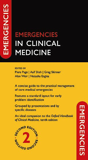 Portada del libro 9780198779117 Emergencies in Clinical Medicine