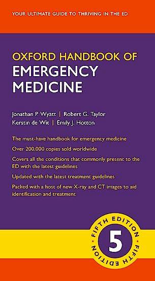 Portada del libro 9780198784197 Oxford Handbook of Emergency Medicine