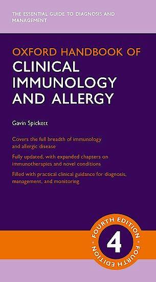 Portada del libro 9780198789529 Oxford Handbook of Clinical Immunology and Allergy