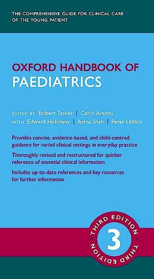 Portada del libro 9780198789888 Oxford Handbook of Paediatrics