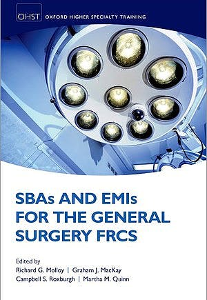 Portada del libro 9780198794158 SBAs and EMIs for the General Surgery FRCS