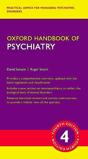 Portada del libro 9780198795551 Oxford Handbook of Psychiatry