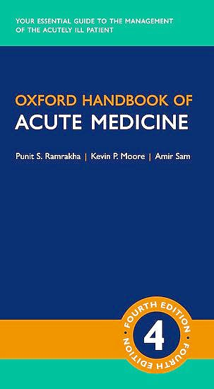 Portada del libro 9780198797425 Oxford Handbook of Acute Medicine