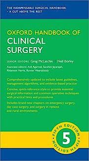Portada del libro 9780198799481 Oxford Handbook of Clinical Surgery