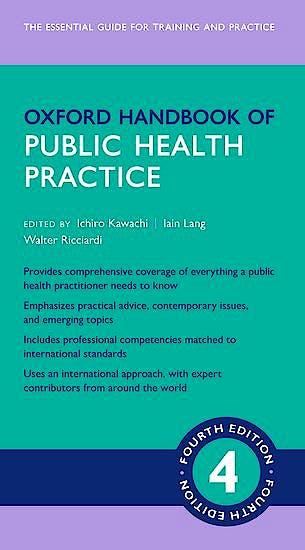 Portada del libro 9780198800125 Oxford Handbook of Public Health Practice