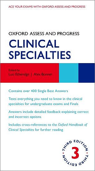 Portada del libro 9780198802907 Clinical Specialties (Oxford Assess and Progress)