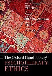 Portada del libro 9780198817338 Oxford Handbook of Psychotherapy Ethics