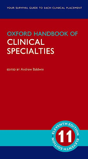 Portada del libro 9780198827191 Oxford Handbook of Clinical Specialties
