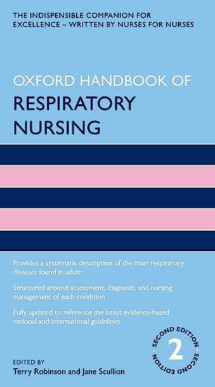 Portada del libro 9780198831815 Oxford Handbook of Respiratory Nursing