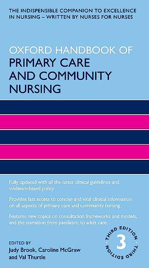 Portada del libro 9780198831822 Oxford Handbook of Primary Care and Community Nursing
