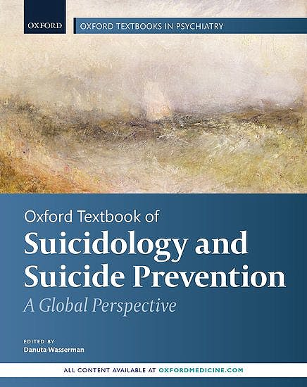 Portada del libro 9780198834441 Oxford Textbook of Suicidology and Suicide Prevention