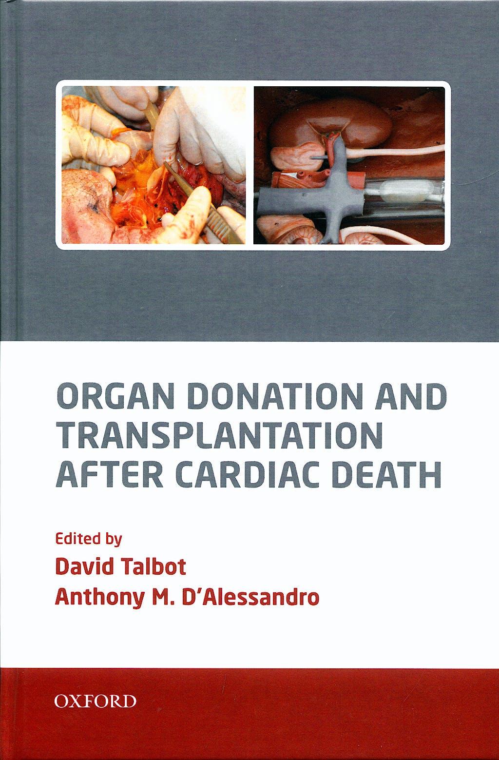 Portada del libro 9780199217335 Organ Donation and Transplantation after Cardiac Death
