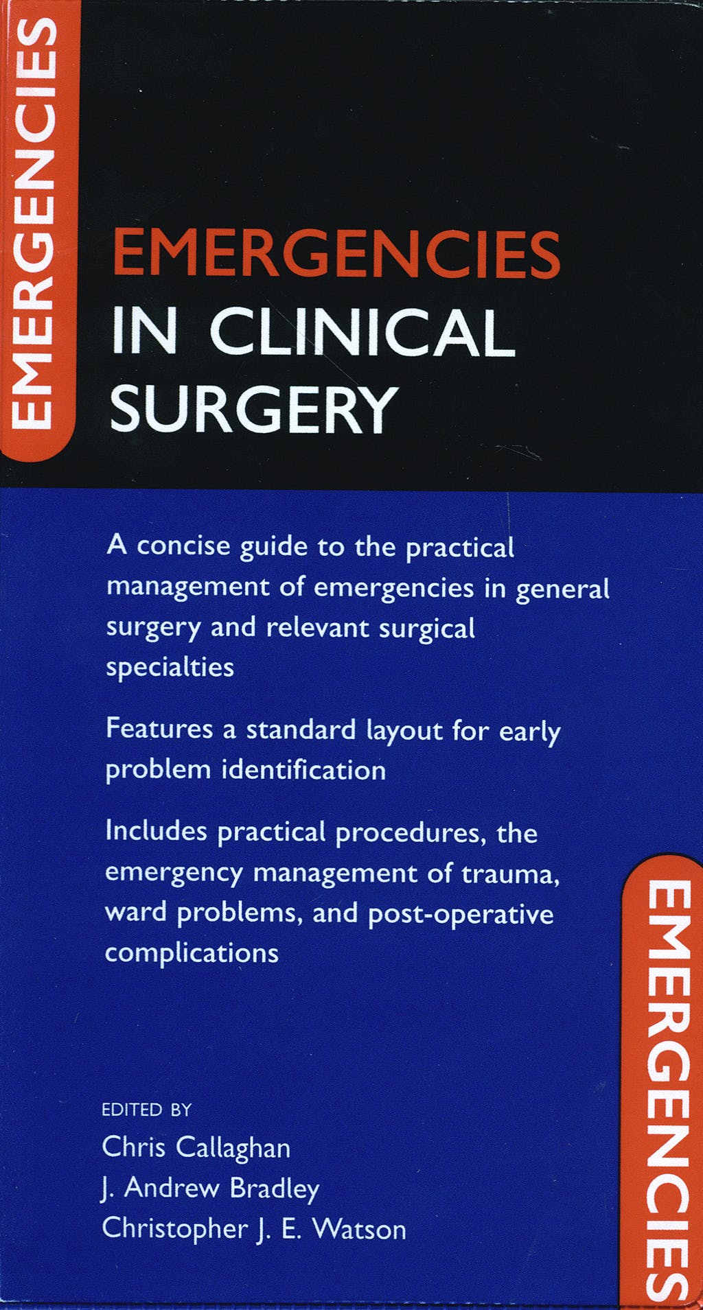 Portada del libro 9780199219018 Emergencies in Clinical Surgery