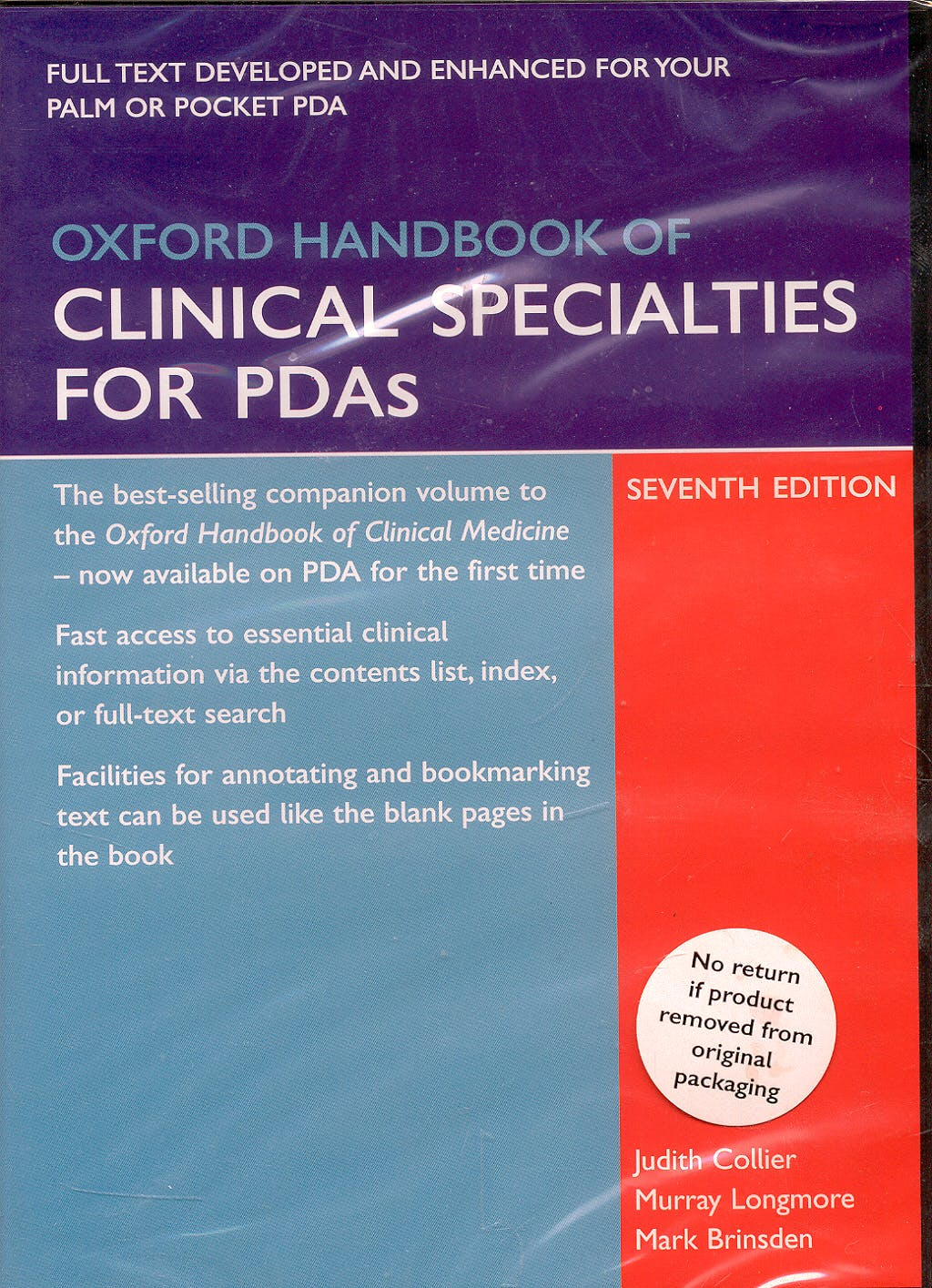 Oxford Handbook of Clinical Specialties for PDAs (7th Edition)