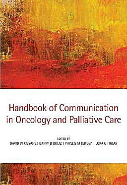 Portada del libro 9780199238378 Handbook of Communication in Oncology and Palliative Care