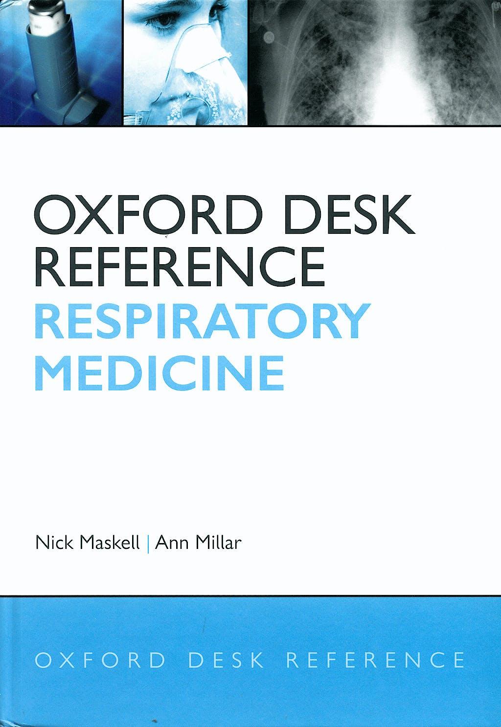 Portada del libro 9780199239122 Oxford Desk Reference. Respiratory Medicine