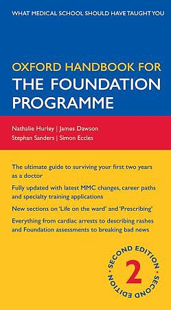 Portada del libro 9780199547739 Oxford Handbook for the Foundation Programme