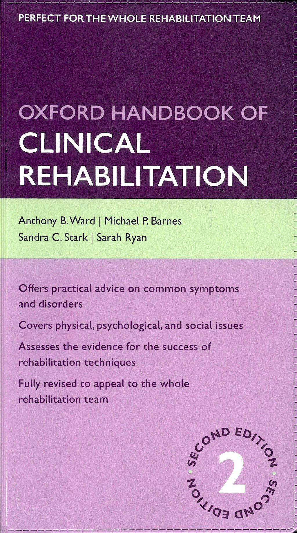 Portada del libro 9780199550524 Oxford Handbook of Clinical Rehabilitation