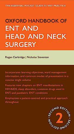 Portada del libro 9780199550791 Oxford Handbook of Ent and Head and Neck Surgery
