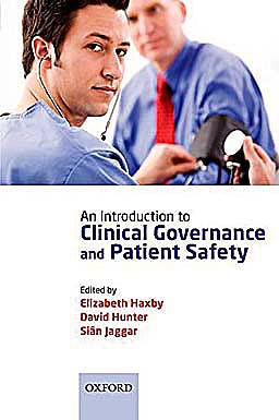 Portada del libro 9780199558612 An Introduction to Clinical Governance and Patient Safety