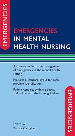 Portada del libro 9780199561414 Emergencies in Mental Health Nursing