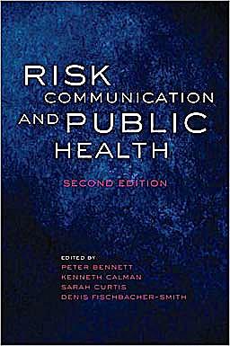 Portada del libro 9780199562848 Risk Communication and Public Health