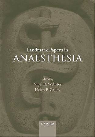 Portada del libro 9780199583386 Landmark Papers in Anaesthesia