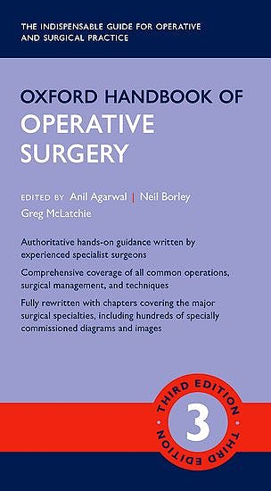Portada del libro 9780199608911 Oxford Handbook of Operative Surgery
