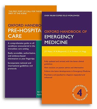 Portada del libro 9780199645961 Oxford Handbook of Emergency Medicine 4ed. + Oxford Handbook of Pre-Hospital Care (Pack)
