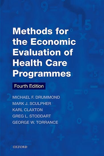 Portada del libro 9780199665884 Methods for the Economic Evaluation of Health Care Programmes
