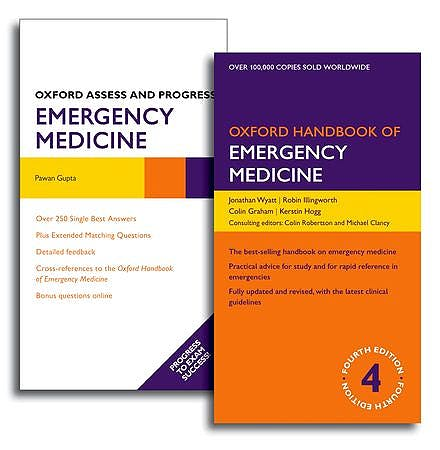 Portada del libro 9780199670659 Oxford Handbook of Emergency Medicine + Oxford Assess and Progress Emergency Medicine (Emergency Medicine Pack)