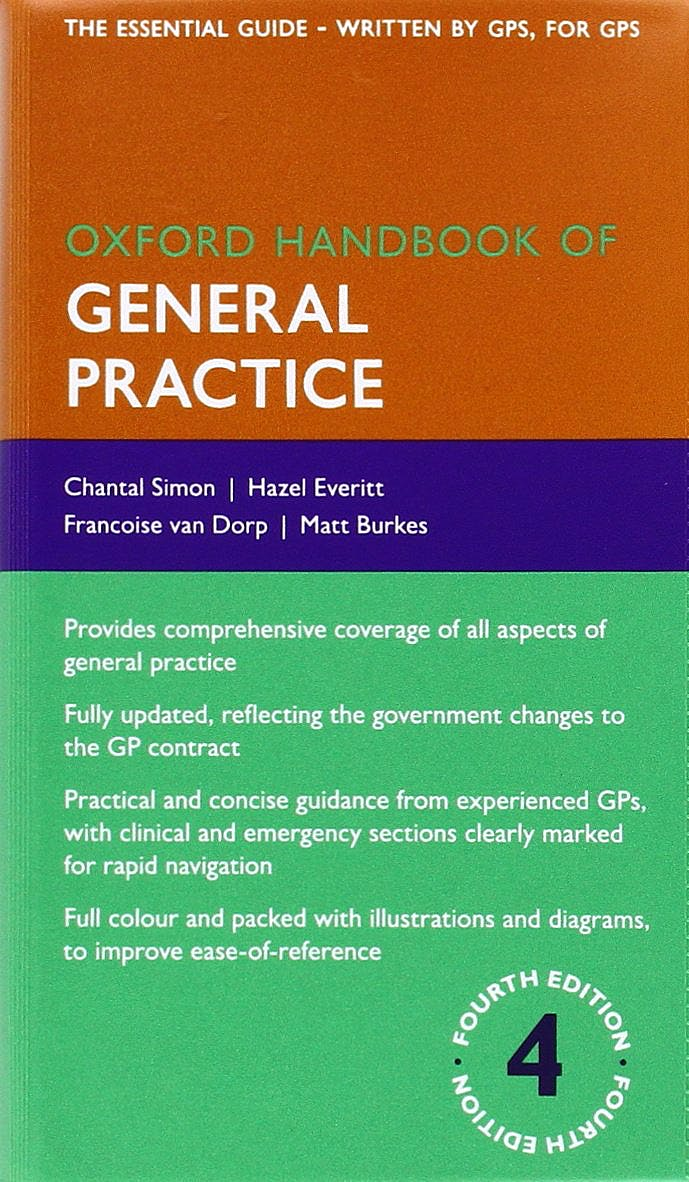 Portada del libro 9780199671038 Oxford Handbook of General Practice