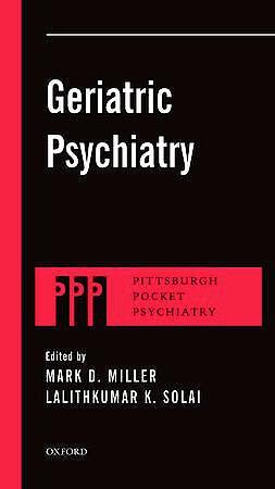 Portada del libro 9780199765782 Geriatric Psychiatry