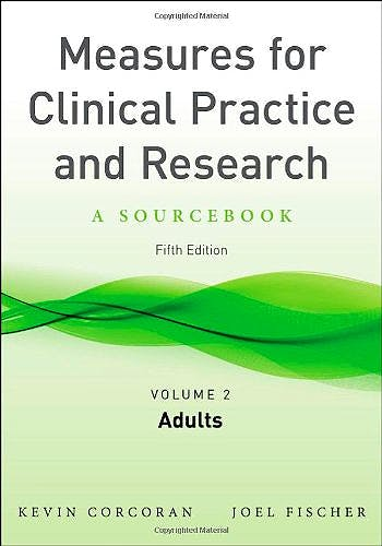 Portada del libro 9780199778591 Measures for Clinical Practice and Research, Vol. 2: Adults