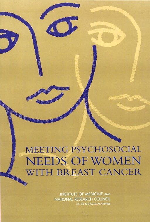 Portada del libro 9780309091299 Meeting Psychosocial Needs of Women with Breast Cancer