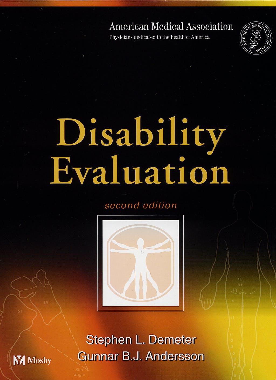 Portada del libro 9780323009591 Disability Evaluation