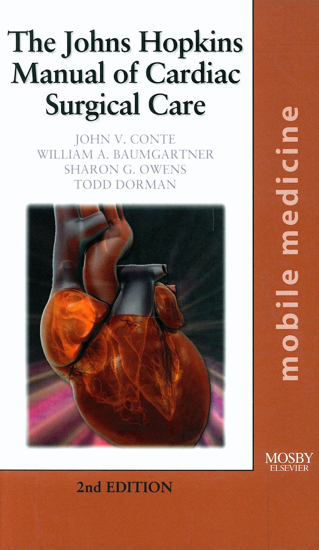 Portada del libro 9780323018104 The Johns Hopkins Manual of Cardiac Surgical Care