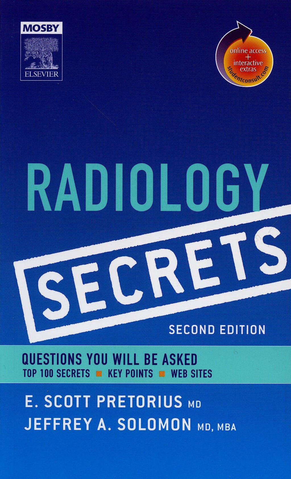 Portada del libro 9780323034050 Radiology Secrets + Online Access