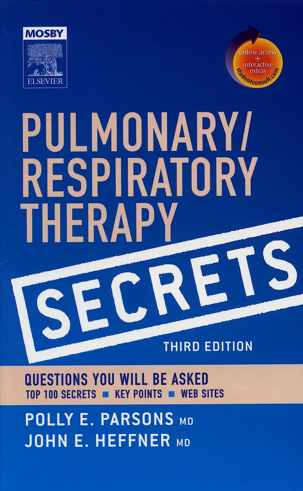 Portada del libro 9780323035866 Pulmonary/respiratory Therapy Secrets