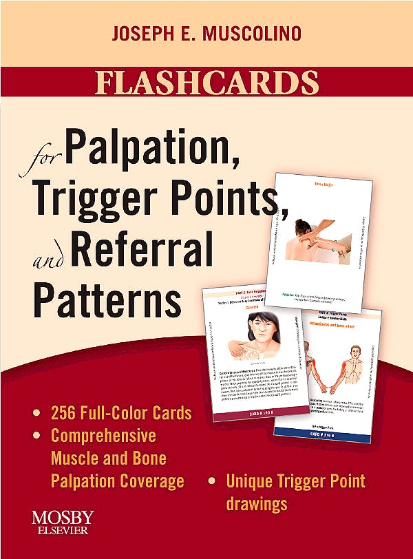 Portada del libro 9780323051699 Flashcards for Palpation, Trigger Points, and Referral Patterns