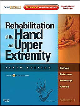 Portada del libro 9780323056021 Rehabilitation of the Hand and Upper Extremity, 2 Vols. (Online and Print)