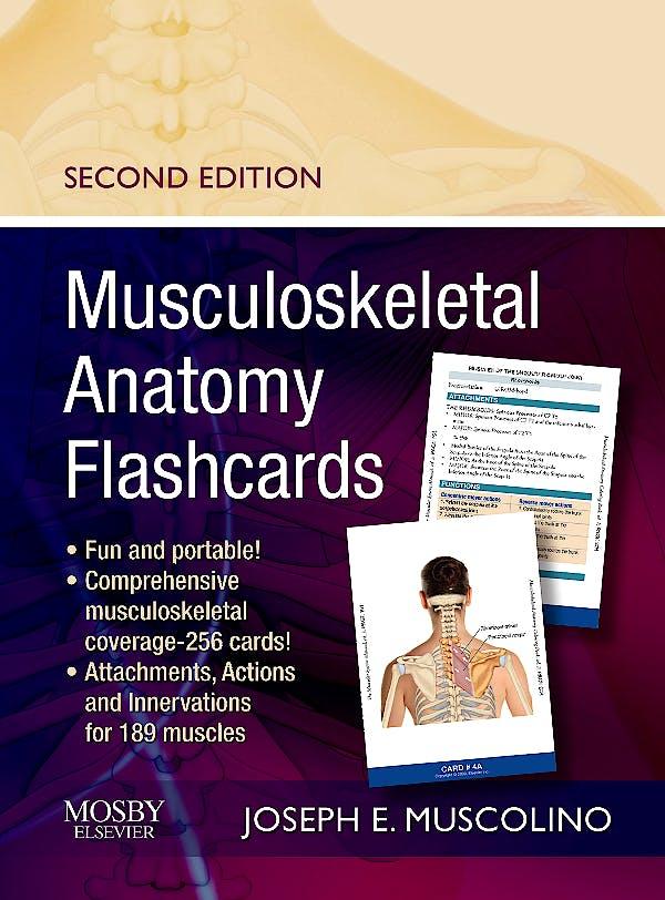 Portada del libro 9780323057226 Musculoskeletal Anatomy Flashcards