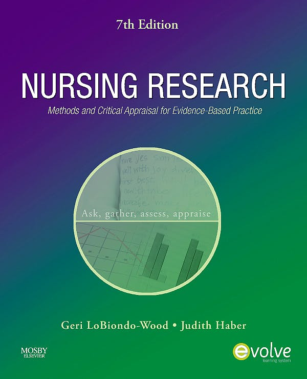 Portada del libro 9780323057431 Nursing Research. Methods and Critical Appraisal for Evidence-Based Practice