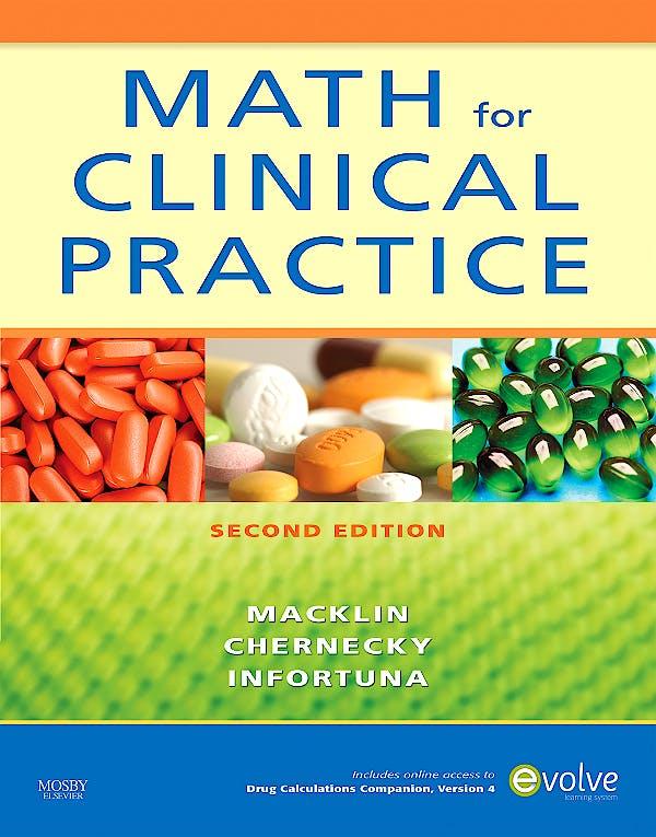 Portada del libro 9780323064996 Math for Clinical Practice